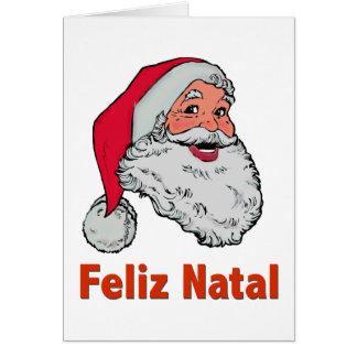 Carte de Noël de Père Noël de Portugais