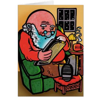 Carte de Noël de Père Noël Ipad