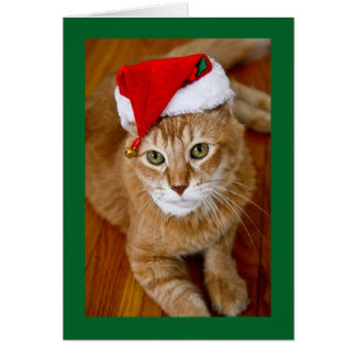 Carte de Noël de Père Noël Kitty