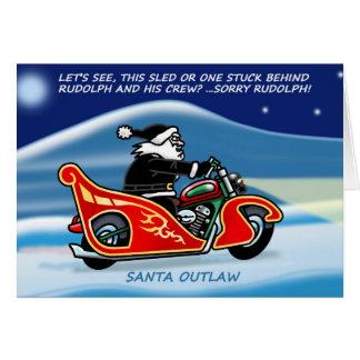 Carte de Noël de Père Noël Outlaw©