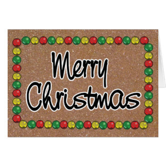 Carte de Noël de perle de parties scintillantes