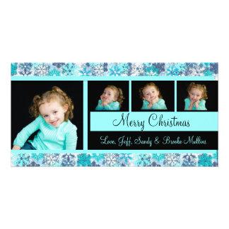 Carte de Noël de photo de flocon de neige Cartes De Vœux Avec Photo