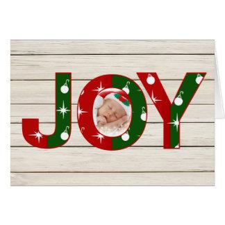 Carte de Noël de photo de joie
