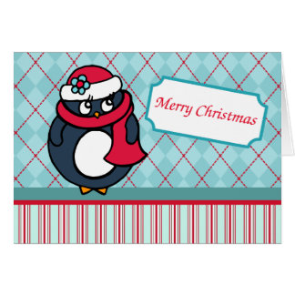 Carte de Noël de pingouin