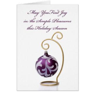 Carte de Noël de plaisirs simples