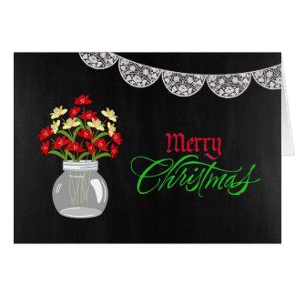 Carte de Noël de pot de maçon