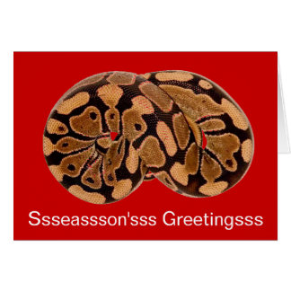 Carte de Noël de python de sommeil