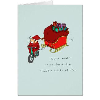 Carte de Noël de recyclage drôle de la grève | de