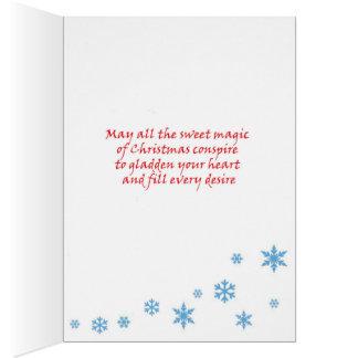 Carte de Noël de renne