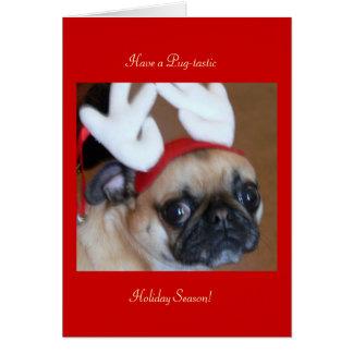 Carte de Noël de renne de carlin