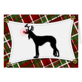 Carte de Noël de renne de Saluki