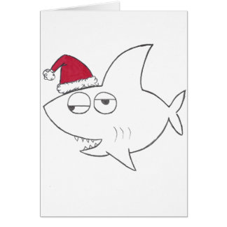 Carte de Noël de requin de Stinkeye