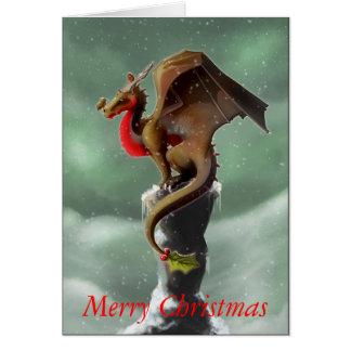 Carte de Noël de Robin de dragon
