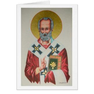 Carte de Noël de Saint-Nicolas
