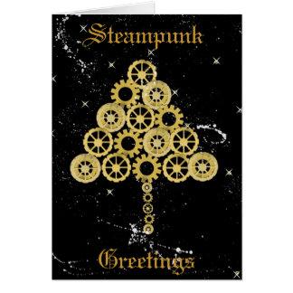 Carte de Noël de salutations de Steampunk