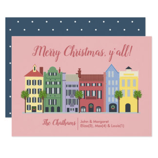 Carte de Noël de Sc de Charleston de rangée
