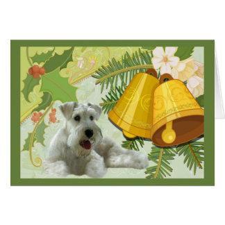 Carte de Noël de Schnauzer miniature Bells