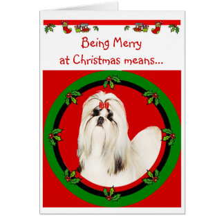 Carte de Noël de Shih Tzu