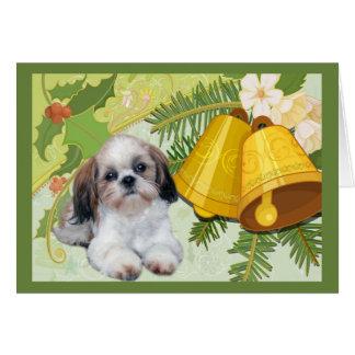 Carte de Noël de Shih Tzu Bells