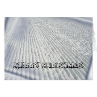 Carte de Noël de skieurs/surfeurs