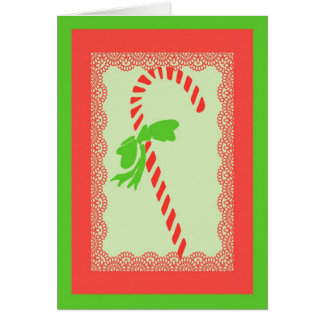 Carte de Noël de sucre de canne