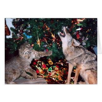 Carte de Noël de sud-ouest d'animal sauvage de