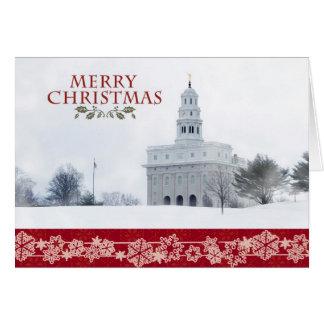 Carte de Noël de temple de Nauvoo
