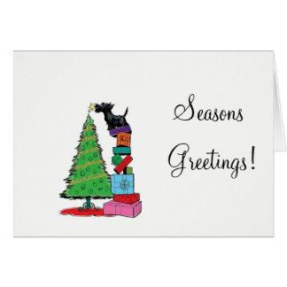 Carte de Noël de Terrier d'écossais