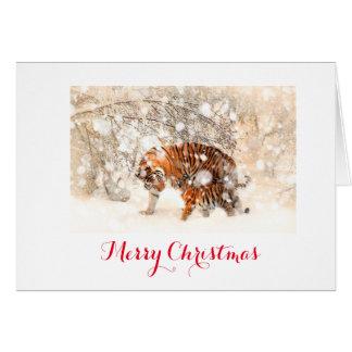 Carte de Noël de tigre