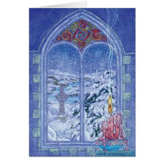 Carte de Noël de veilleuse