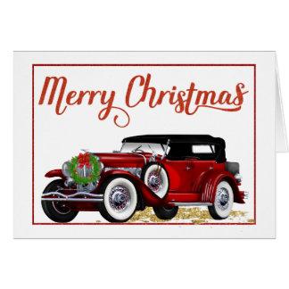 Carte de Noël de voiture ancienne