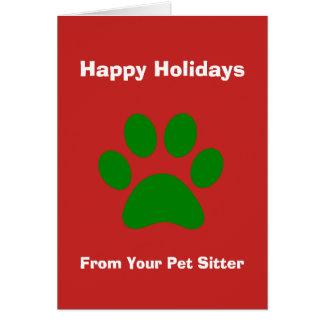 Carte de Noël de votre garde d'enfants d'animal