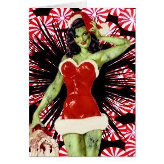 Carte de Noël de zombi de menthe poivrée