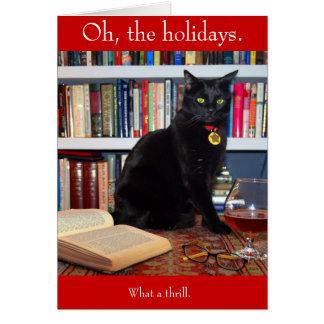 Carte de Noël d'Edgar Allan Kittycat
