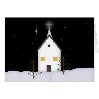 Carte de Noël d'église de pays