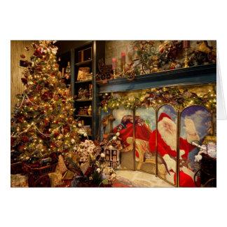 Carte de Noël d'Elegent avec Père Noël et des