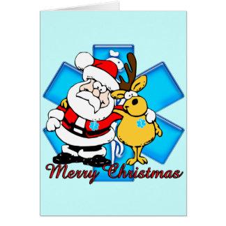 Carte de Noël d'EMT Père Noël