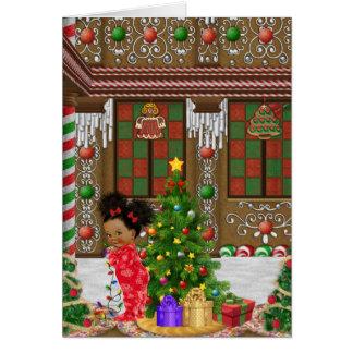 Carte de Noël d'enfant d'Afro-américain