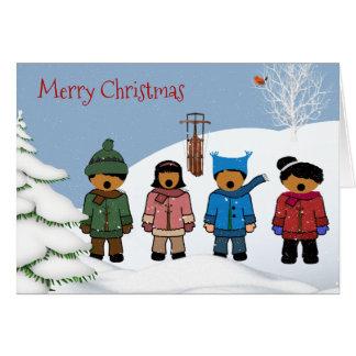 Carte de Noël d'enfants d'Afro-américain