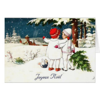 Carte de Noël d'enfants de Joyeux Noel