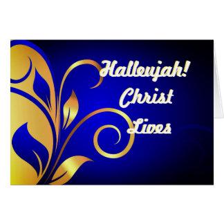Carte de Noël des vies du Christ d'alléluia