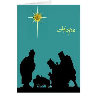 Carte de Noël d'espoir de Magi