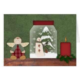 Carte de Noël d'étagère de Noël
