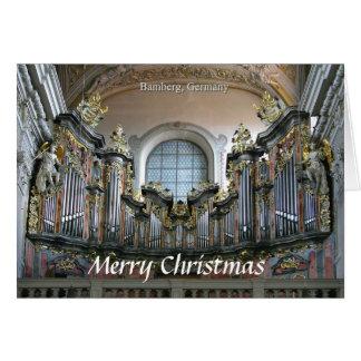 Carte de Noël d'organe de Bamberg