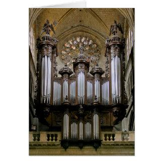 Carte de Noël d'organe de cathédrale d'Auch