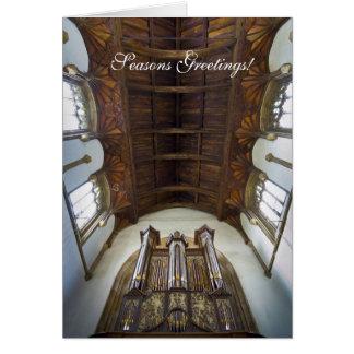 Carte de Noël d'organe de Framlingham