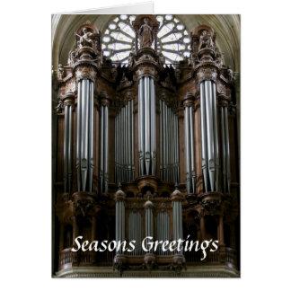 Carte de Noël d'organe de St Eustache