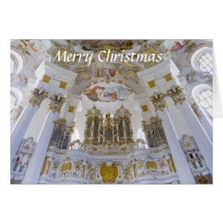 Carte de Noël d'organe de Wieskirche