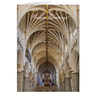 Carte de Noël d'organe d'Exeter