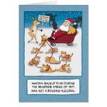 Carte de Noël drôle : Chats de Sleigh